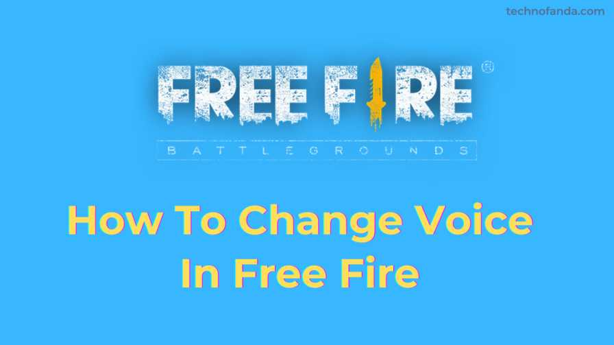 How To Change Voice In Free Fire Game