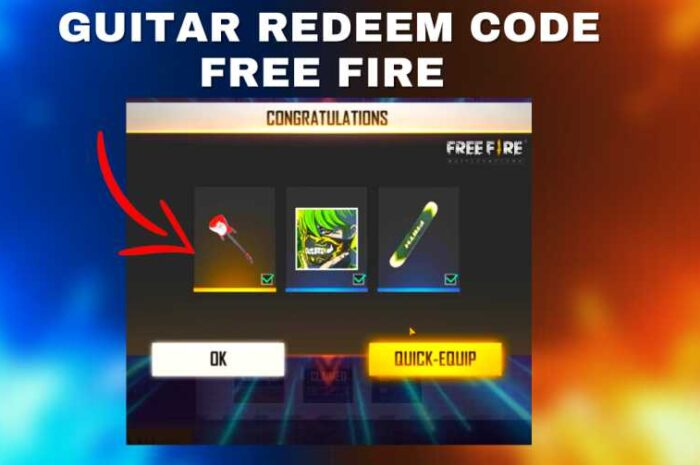 Free Fire Guitar Skin Redeem Code
